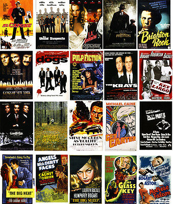 Gangster Movie Posters- 60 All Different A6 Art Cards