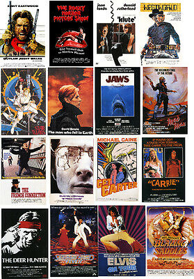 MOVIE POSTERS of 1970s-60 ALL DIFFERENT A6 ARTCARDS