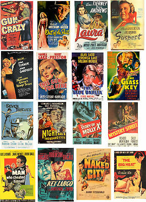 Film Noir Poster Art -60 All Different A6 Art Cards