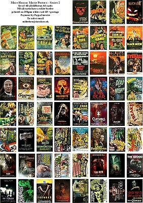 More Horror Movie Posters - Series 2- 60 All Different A6 Art Cards