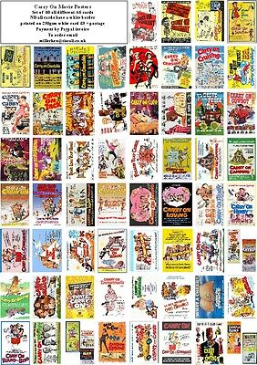 'carry On' Movie Posters-60 All Different Art Cards