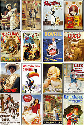 Vintage Advertising Art-60 All Different A6 Art Cards