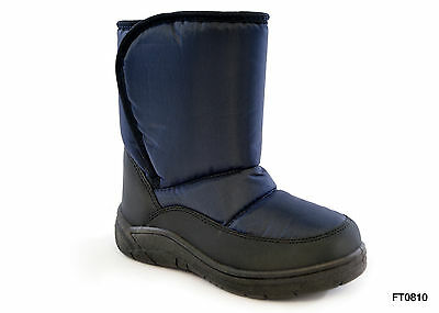 Childrens Snow Boots Boys or Girls in Navy Blue or Purple Kids Boots