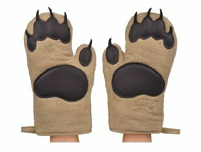 Bear Hands Oven Mitts Set of 2 Insulated Cotton By Fred and Friends
