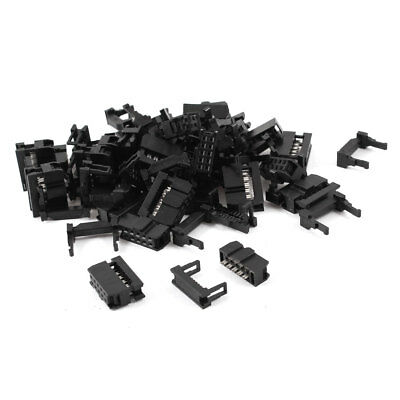 25 Pcs IDC Cable Connector FC-10P 10Pin Female Header 2.54mm Pitch