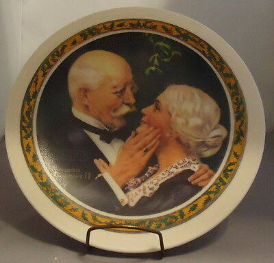 Norman Rockwell Collector Plate Golden Christmas 1976 Knowles Senior Couple