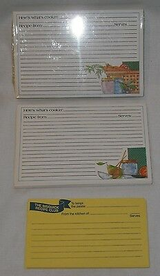 Vintage Recipe Cards Bisquick Recipe Club Index Size Vintage Current Jumbo Size
