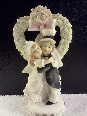 WEDDING CAKE TOPS HAND CRAFTED ITALIAN PORCELAIN FIGURINE BY NORMAN WILTON,LTD
