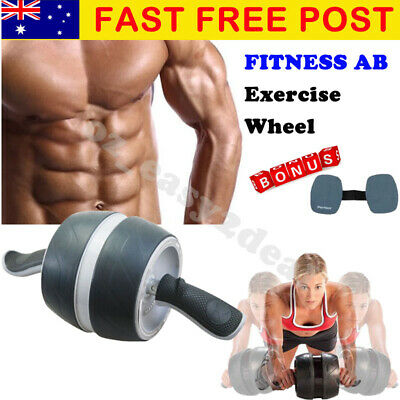 High Quality Abs Abdominal Roller Wheel Exerciser Workout Fitness Exercise Gym With Knee Pad Free Shipping