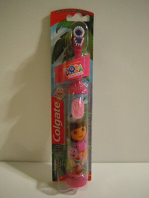 FREE SHIP BIG SALE NEW! Colgate Dora The Explorer Pink Battery Power Toothbrush