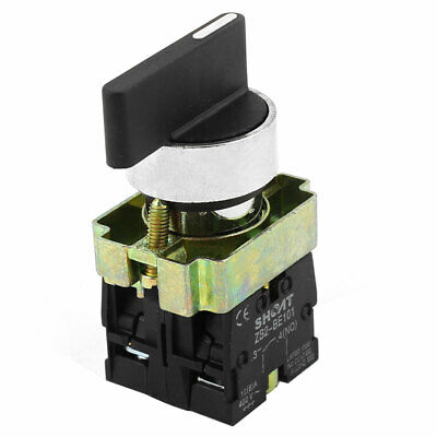 ZB2-BE101 SPDT 2NO 4 Terminal 3-Position Rotary Selector Switch AC600V 10A