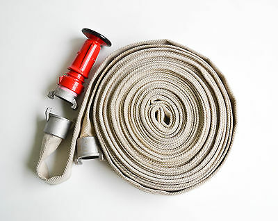 Fire hose kit 38mm x 25m recycled hose with external lug fittings