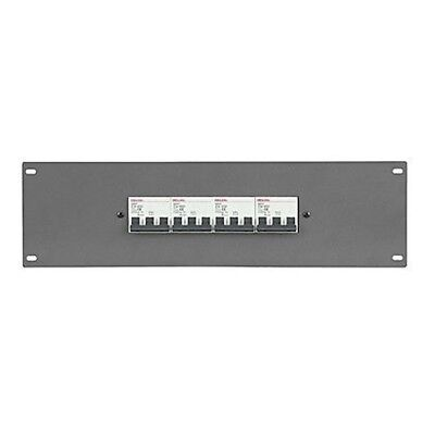 ShowTec - 1 Phase MCB rack panel - 9x 16A circuit breakers [PDP-F9161] Rack Pane