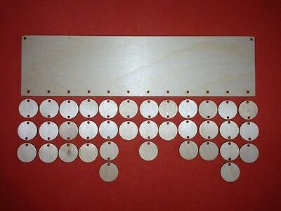 LONG PLAQUE & circles PLAIN BLANK WOODEN UNPAINTED BIRTHDAYS REMINDER SIGNS