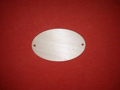 10 small OVAL ELIPSE PLAQUE UNPAINTED BLANK WOODEN SIGNS HANGING SHAPE TAG