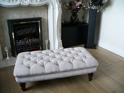 Chesterfield  Oxford Deep Buttoned Large Footstool / Coffee Table / Ottoman