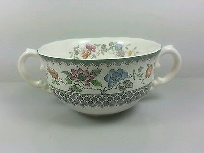 Spode Chinese Rose C1815 Cream Soup Coupe / Cup Only (Fluted Edge) (Perfect)