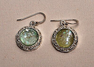Roman Glass Earrings Authentic & Luxurious With Certificate