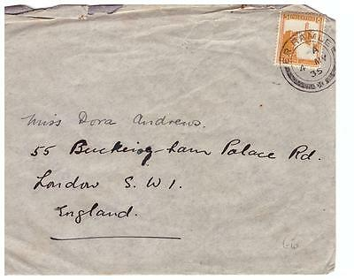 shop537 Palestine 1935 cover to England