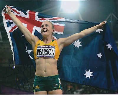 Sally PEARSON Autograph Signed 10x8 Photo AFTAL COA Australian Athlete Gold RARE