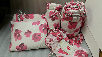 Pink Floral Crib Set - Paisley Label By Kerry Cassill
