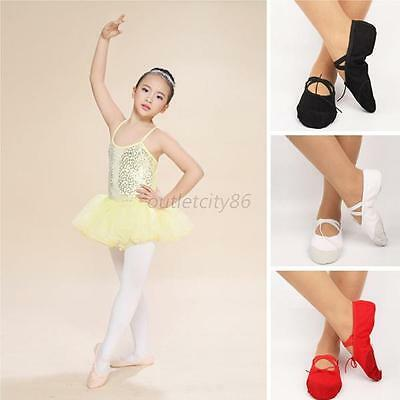 Ballet Dance Shoes Soft Split Sole Leather Tendon Sole With Attached Elastic O63