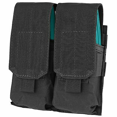 Condor MA4 Black MOLLE PALS Double Stack 5.56 .223 Rifle Mag Magazine Flap Pouch