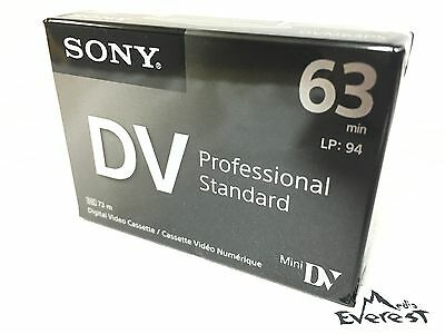 Sony DVM63PS Mini DV Minidv Camcorder video 63min Professional Tape 1pack