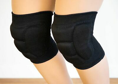 Knee Pads - Black Unisex - Gel Core - Great for Dancers Cheerleaders Fitness