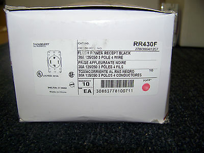 Hubbell Wiring RR430F Trade Select Standard Size Receptacle Straight Blade 30A