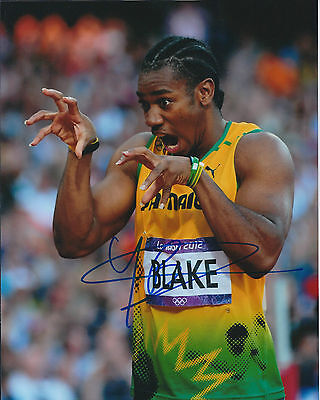Johan BLAKE Autograph Signed Photo AFTAL COA Jamaica Athlete Sprinter The Beast
