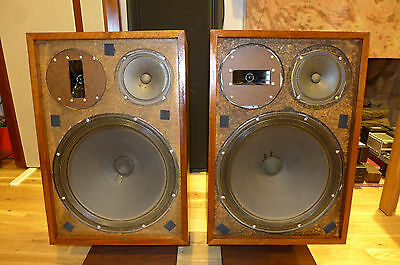 Vintage Pair of LWE 1 Acoustron speakers Made by Louis W. Erath in USA