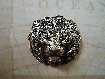 Oxidized Brass Lion Head Stamping (1) - BOFF3817 Jewelry Finding