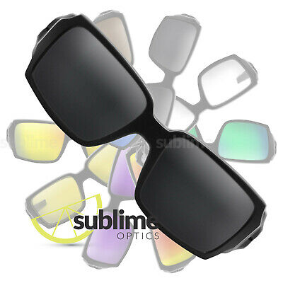 POLARIZED Black (Dark Grey) Replacement Lenses For Oakley Oil Drum ~ charcoal