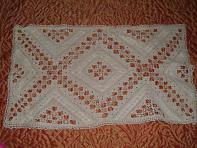 VINTAGE HAND CROCHETED PLACEMATS (6)-IRELAND