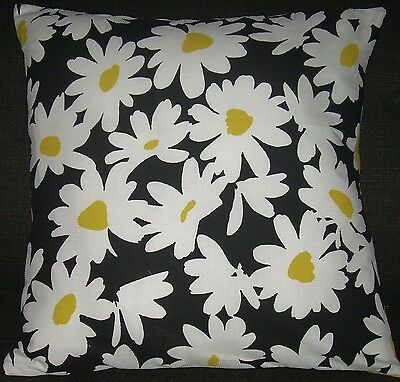 """Mid Century Retro Pillow Cover Barkcloth """"Lucy"""" Mad M 1960's Vintage"""