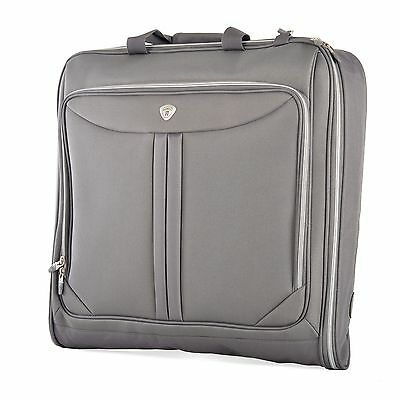 """Olympia 44"""" Deluxe Folding Travel Garment Bag Hanging Luggage Vector Gray G-7740"""