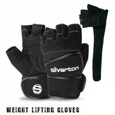 Weight Lifting Gym Fitness Body Building Gloves Fingerless Long Wrist - 250
