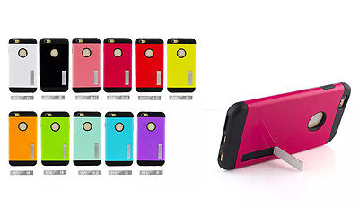 """10pcs/lot Armor Stand Hybrid Slim Shockproof Case For iPhone 6 plus 5.5"""""""