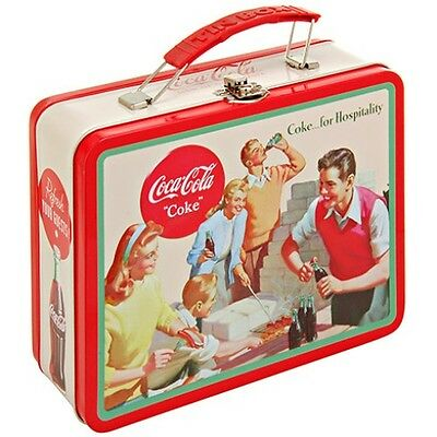 "Coca-Cola Embossed Large Metal Lunch Box ""for Hospitality"" New"