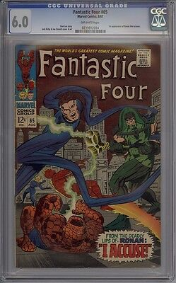 Fantastic Four #65 - CGC Graded 6.0 - 1st Ronan