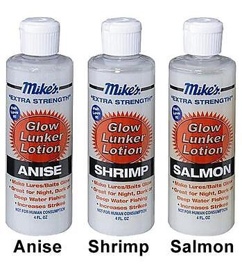 Atlas Mike's Glow Lunker Lotion Fish Scent Attractants Dark Water Night Fishing