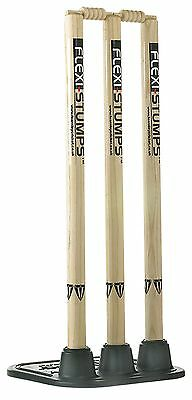 Duncan Fearnley Cricket Wooden Flexi-Stumps With Base - Df0545