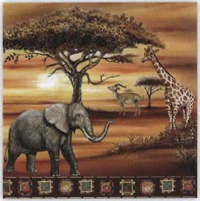 4 x Paper Napkins - African Savanna - Ideal for Decoupage / Decopatch [1661631]