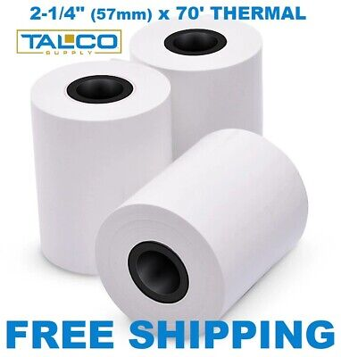 "VERIFONE vx520 (2-1/4"" x 70') THERMAL PAPER - 50 XL ROLLS  **FREE SHIPPING**"