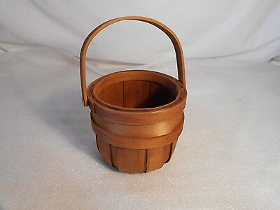 Vintage Collectible Wooden Bucket With Handle
