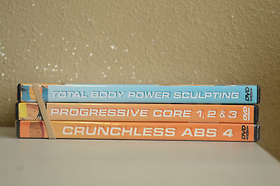Lot of 3 Crunchless Abs DVD's S-72 Guaranteed To Play