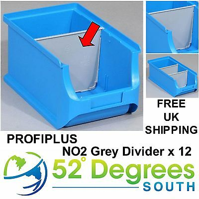 Profiplus Bin Size 2 Plastic Divider - Insert  Partition Stacking Bins x 12