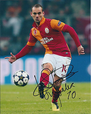 Wesley SNEIJDER Signed Autograph 10x8 Photo AFTAL COA Galatasaray Turkey RARE