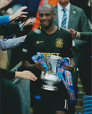Emmerson BOYCE SIGNED Autograph 10x8 Photo AFTAL COA WIGAN Athletic FA Cup WIN